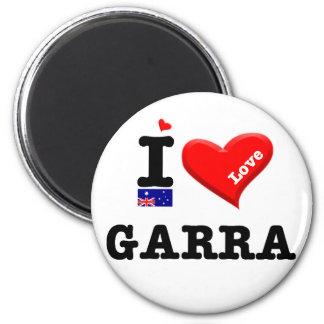 GARRA - J'aime Magnet Rond 8 Cm