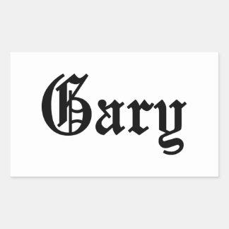 Gary Sticker En Rectangle