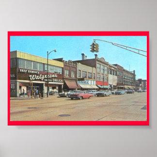 Gary DEDANS, Walgreens @ Broadway et 6ème Poster