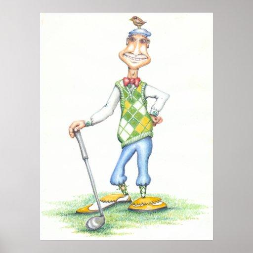 Gary l'affiche de golfeur