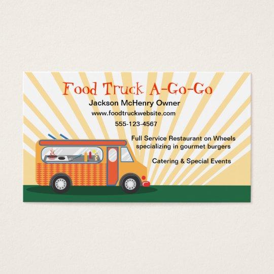 Gastro Cartes De Visite Camion