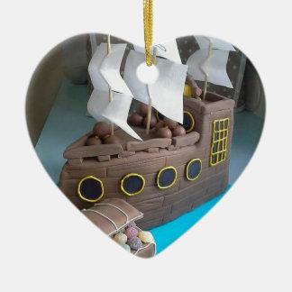 Gâteau 1 de bateau ornement cœur en céramique