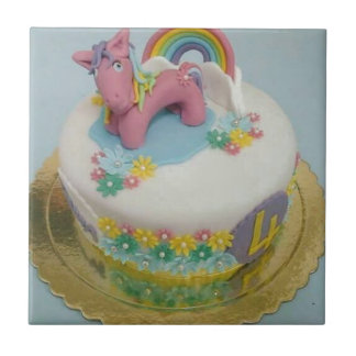 Gâteau 1 de poney petit carreau carré