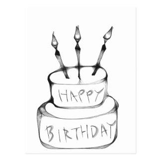 Gâteau d anniversaire carte postale
