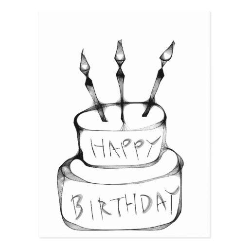 Gâteau d'anniversaire carte postale