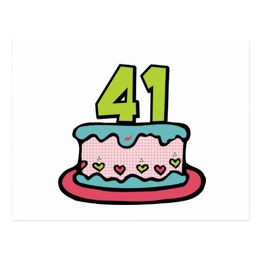 joyeux anniversaire Esocircle Gateau_danniversaire_de_41_ans_cartes_postales-rbfde720d66ec4f37afb54e297f6809b4_vgbaq_8byvr_512