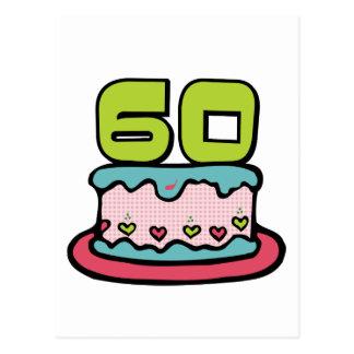 Gâteau d'anniversaire de 60 ans cartes postales