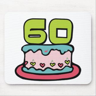 Gâteau d'anniversaire de 60 ans tapis de souris
