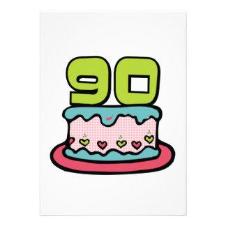 Gâteau d'anniversaire de 90 ans faire-part