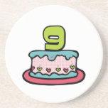 Gâteau d'anniversaire de 9 ans dessous de verre