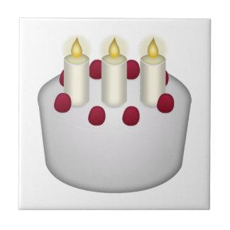 Gâteau d'anniversaire - Emoji Petit Carreau Carré