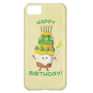 Gâteau d'anniversaire mignon de Kawaii Coque iPhone 5C
