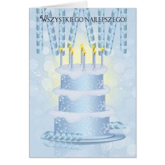 Gâteau d'anniversaire polonais et bougies de carte