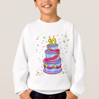 Gâteau d'anniversaire sweatshirt