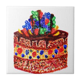 Gâteau de chocolat 2 petit carreau carré