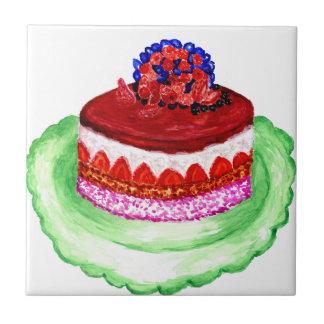 Gâteau de chocolat 3 petit carreau carré