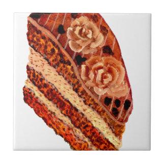Gâteau de chocolat 4 petit carreau carré