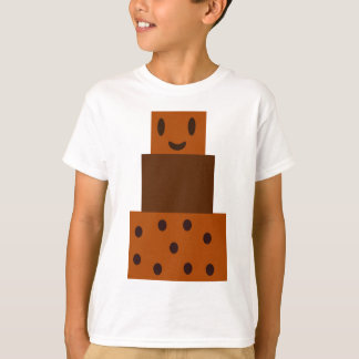Gâteau de chocolat de bande dessinée t-shirt
