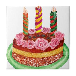 Gâteau de chocolat petit carreau carré