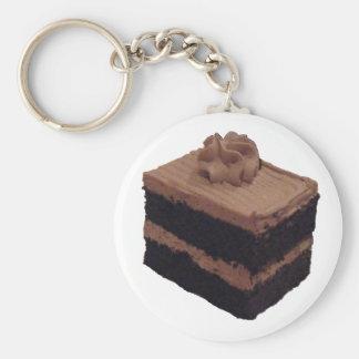 Gâteau de chocolat porte-clé rond
