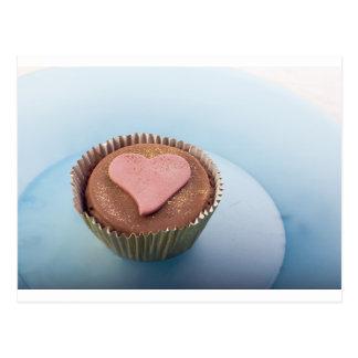 gâteau de coeur d'amour cartes postales