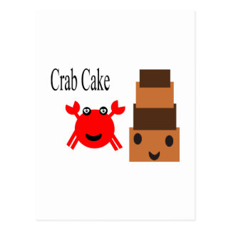 Gâteau de crabe de bande dessinée 2.5s carte postale
