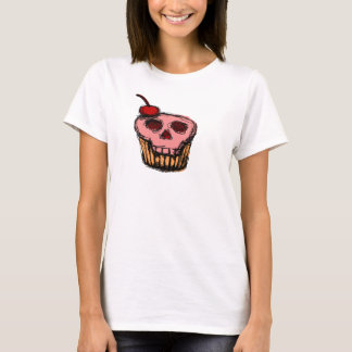 Gâteau de crâne avec la cerise t-shirt