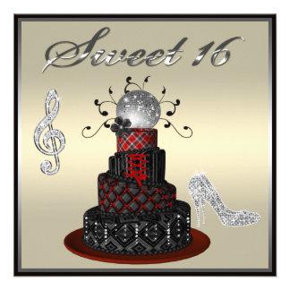 Gâteau de diva de disco du bonbon 16, talons argen bristol