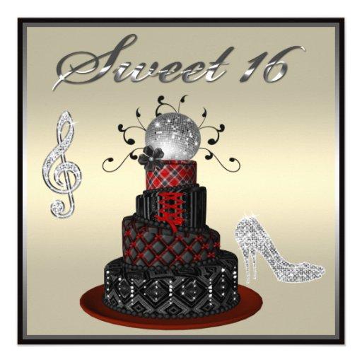 Gâteau de diva de disco du bonbon 16, talons bristol