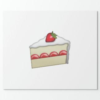 Gâteau de fraise - Emoji Papier Cadeau