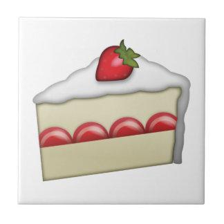 Gâteau de fraise - Emoji Petit Carreau Carré