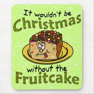 Gâteau de fruits secs drôle de bande dessinée de tapis de souris