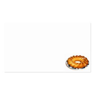 gâteau de rhum d'Au de baba Carte De Visite Standard