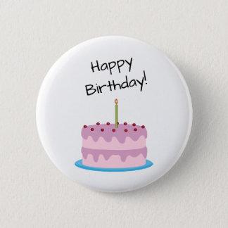 Gâteau de rose de joyeux anniversaire badge