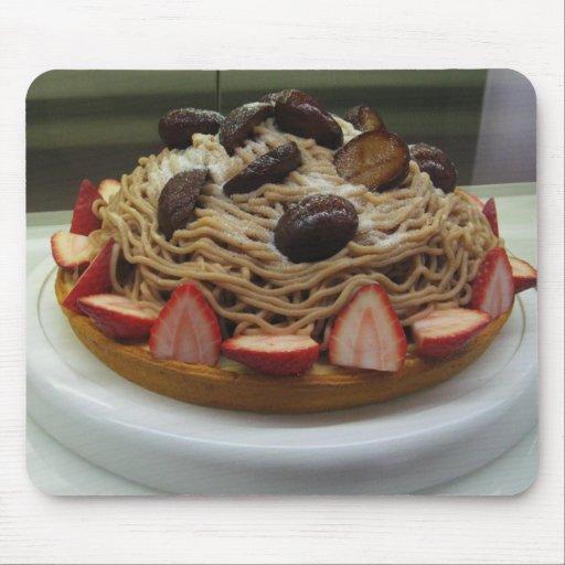 G Teau Japonais De Spaghetti Et De Fraise Tapis De Souris Zazzle