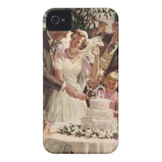Gâteau vintage de coupe de nouveaux mariés de coques iPhone 4 Case-Mate