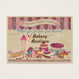 Gâteaux de boutique de boulangerie et carte de