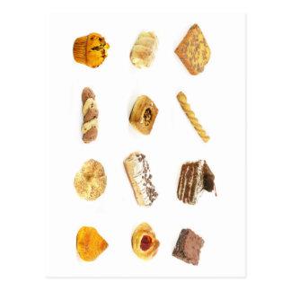 Gâteaux et pâtisseries cuits au four cartes postales