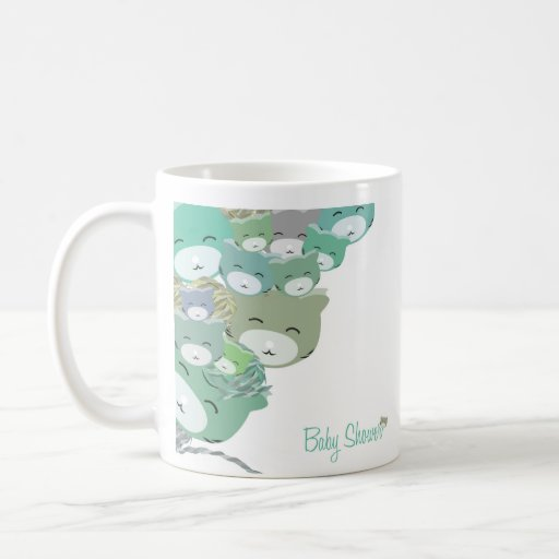 Gatitos infantiles bleus amusants, baby shower mugs