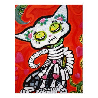 Gato De Los Muertos Carte Postale