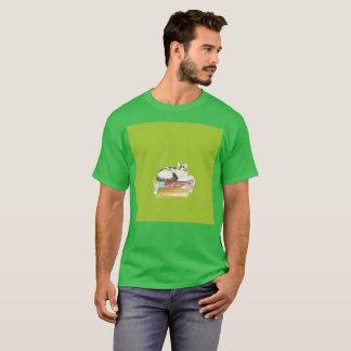 Gato paresseux risque le T-shirt rare d'aquarelle