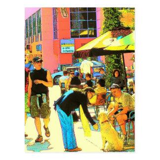 Gauche sur Santa Monica - carte postale