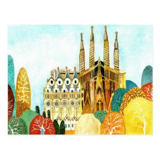 Gaudi s Barcelone Carte Postale
