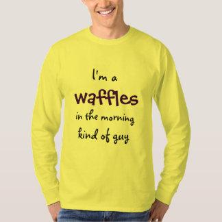 Gaufres chez les hommes drôles d'énonciation de t-shirt