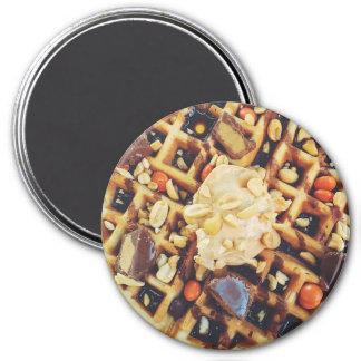 Gaufres délicieuses avec l'aimant de réfrigérateur magnet rond 7,50 cm