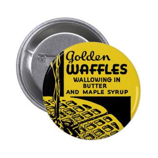 Gaufres d'or se vautrant en beurre badge