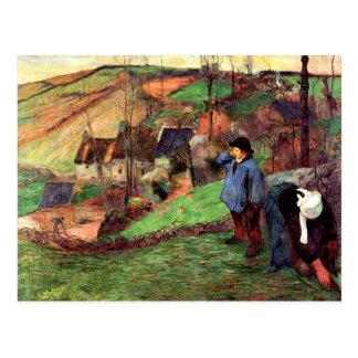 Gauguin - paysage de la Bretagne Carte Postale