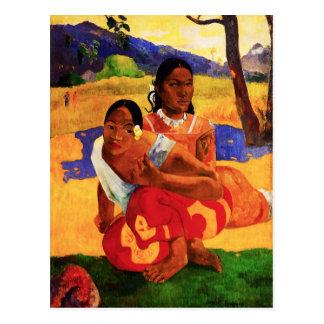 Gauguin quand êtes vous obtenant la carte postale