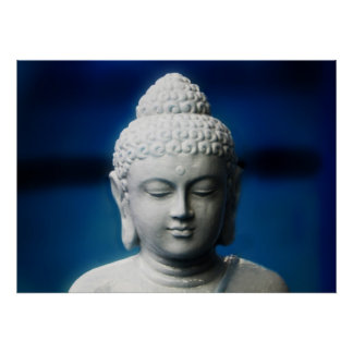 Gautama Buddha a éclairé un Poster