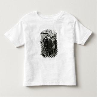 Gavroche menant une démonstration t-shirts